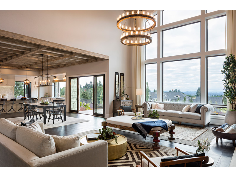 Luxury House Plan Living Room Photo 02 - Asbury Park Luxury Home  011S-0196 | House Plans and More