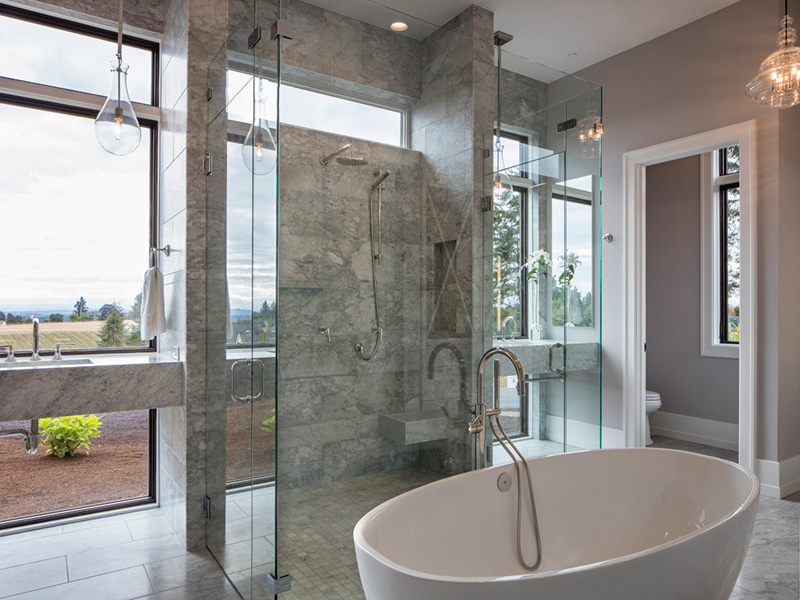 Luxury House Plan Master Bathroom Photo 07 - Asbury Park Luxury Home  011S-0196 | House Plans and More