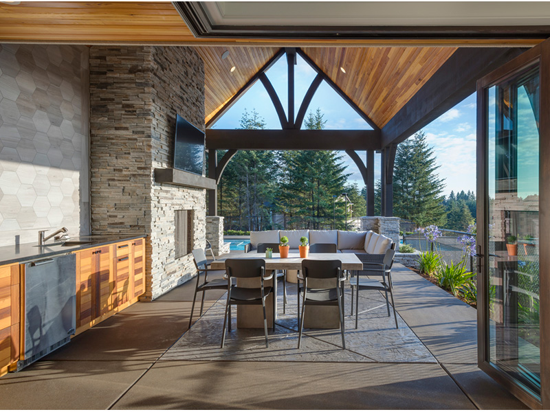 Luxury House Plan Outdoor Living Photo 01 - Asbury Park Luxury Home  011S-0196 | House Plans and More