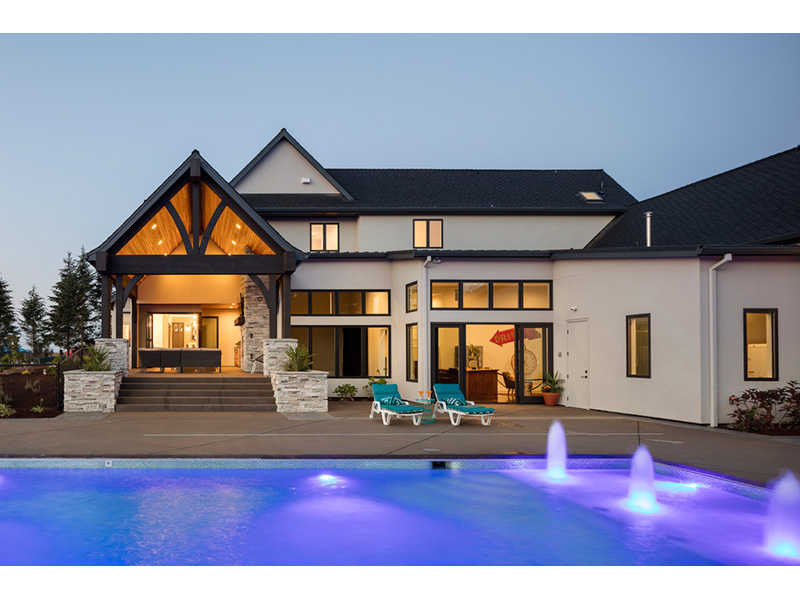 Luxury House Plan Patio Photo - Asbury Park Luxury Home  011S-0196 | House Plans and More
