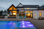 Luxury House Plan Rear Photo 01 - Asbury Park Luxury Home  011S-0196 | House Plans and More