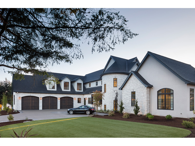 Luxury House Plan Side View Photo - Asbury Park Luxury Home  011S-0196 | House Plans and More