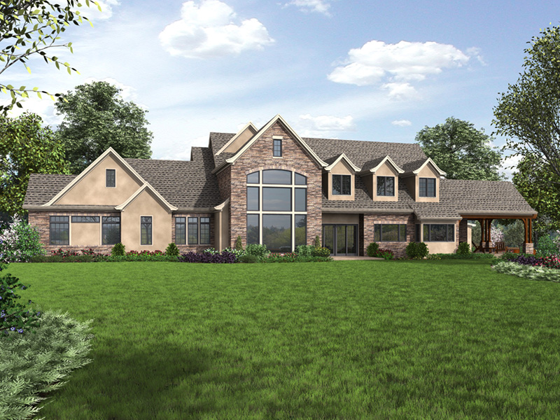 Luxury House Plan Side View Photo 01 - Asbury Park Luxury Home  011S-0196 | House Plans and More