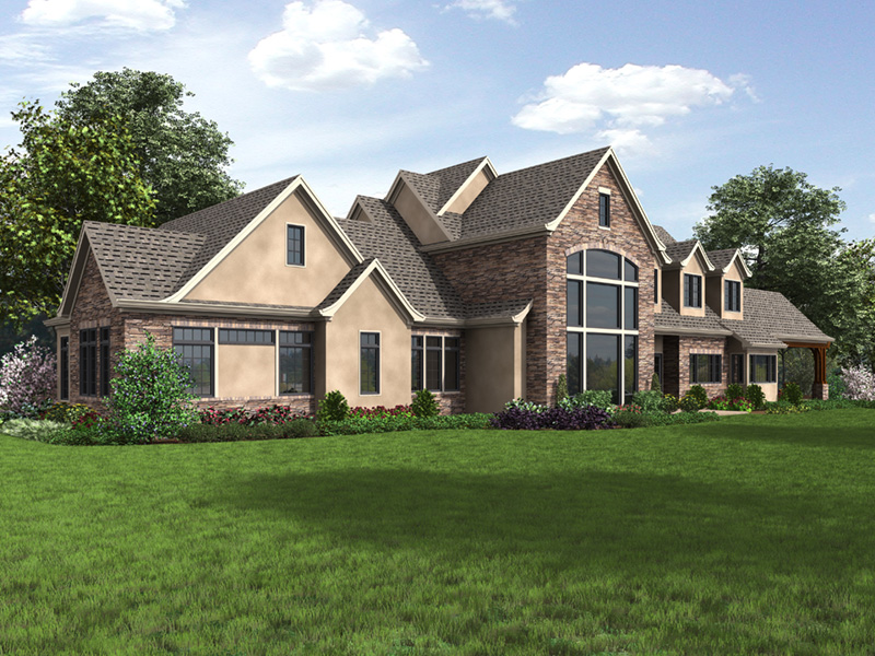Luxury House Plan Side View Photo 02 - Asbury Park Luxury Home  011S-0196 | House Plans and More