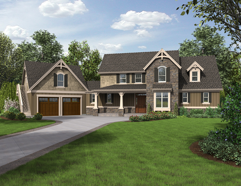 European House Plan Front of Home -  011S-0199 | House Plans and More