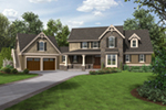 Craftsman House Plan Front of House 011S-0199