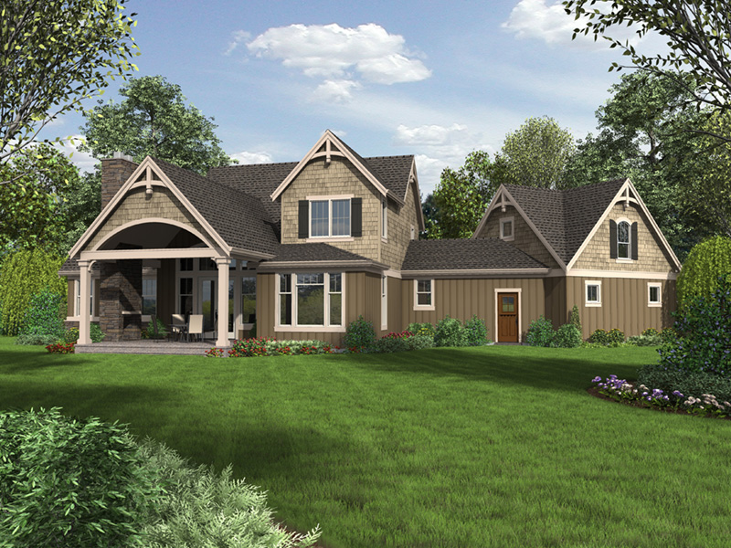 European House Plan Rear Photo 01 -  011S-0199 | House Plans and More