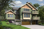 Craftsman House Plan Front of Home -  011S-0202 | House Plans and More