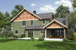 Craftsman House Plan Rear Photo 01 -  011S-0202 | House Plans and More