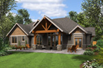 Lake House Plan Rear Photo 01 -  011S-0203 | House Plans and More