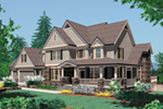 Cape Cod & New England House Plan Front of Home - 011S-0205 | House Plans and More