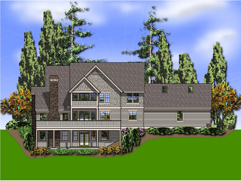 Cape Cod & New England House Plan Rear Photo 01 - 011S-0205 | House Plans and More