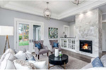 Craftsman House Plan Living Room Photo 01 -  011S-0210 | House Plans and More