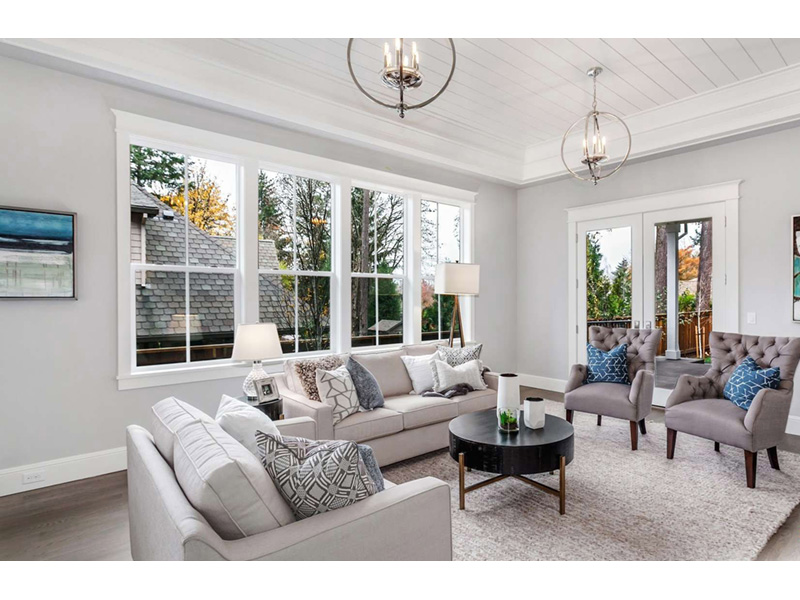 Craftsman House Plan Living Room Photo 02 -  011S-0210 | House Plans and More