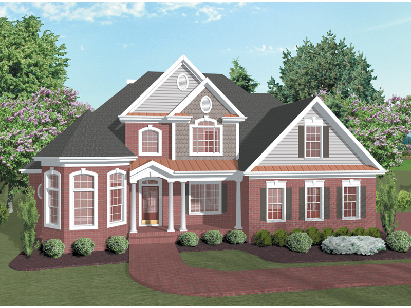 Traditional House Plan Front Image - Pelham Park Victorian Home 013D-0031 | House Plans and More