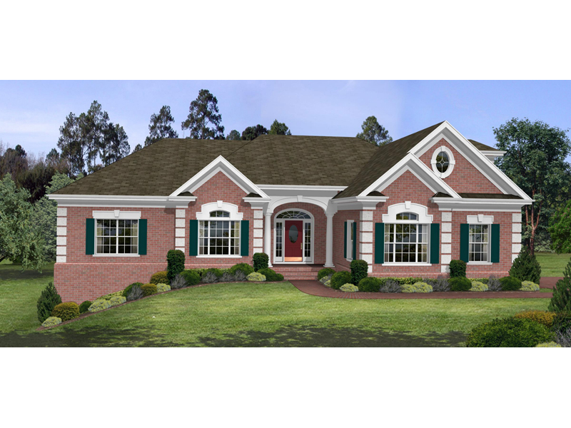 Traditional House Plan Front Image - Selkirk Country French Home 013D-0053 | House Plans and More
