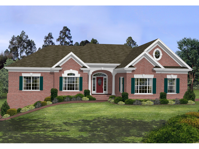 Stovall Park Brick Ranch Home Plan 013D-0100 | House Plans ... on brick barn plans, victorian house plans, brick plantation house plans, brick and stone one story house, brick house plans with bonus room, brick prairie style house plans, full brick house plans, brick one story house plans, traditional house plans, brick house with stone entry, brick a frame house plans, colonial house plans, country house plans, brick carriage house plans, contemporary house plans, screened porch house plans, old southern style house plans, small brick house plans, luxury ranch home plans, complete set of house plans,