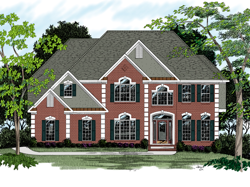Traditional House Plans Two Story - Architectural Designs on