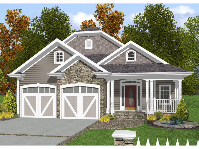 Baldwin Narrow Lot Home Plan 013D-0132 | House Plans and More