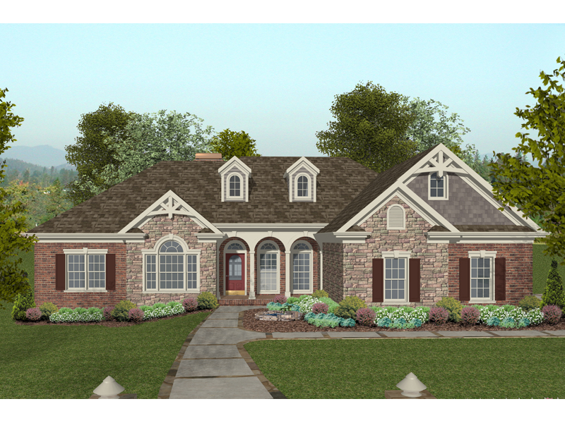 Eisenhower Ranch Home Plan 013D-0166 | House Plans and More on brick barn plans, victorian house plans, brick plantation house plans, brick and stone one story house, brick house plans with bonus room, brick prairie style house plans, full brick house plans, brick one story house plans, traditional house plans, brick house with stone entry, brick a frame house plans, colonial house plans, country house plans, brick carriage house plans, contemporary house plans, screened porch house plans, old southern style house plans, small brick house plans, luxury ranch home plans, complete set of house plans,