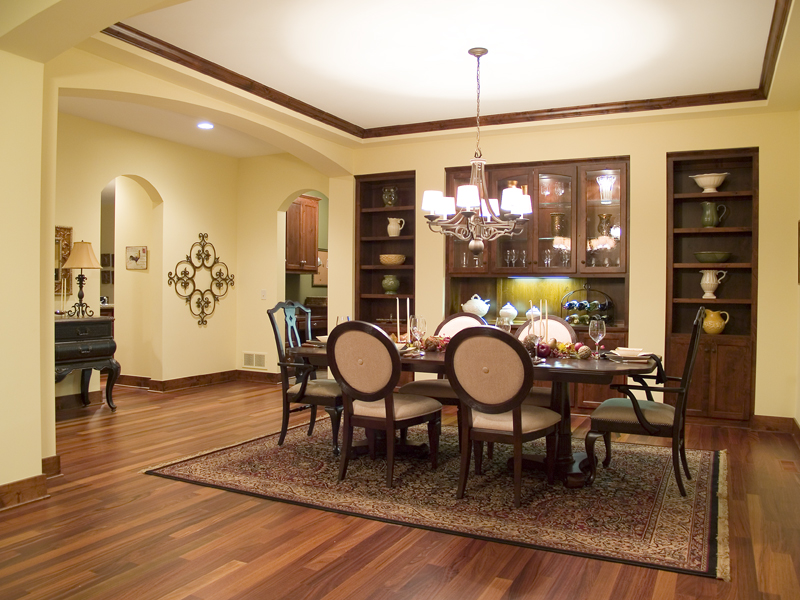 Luxury House Plan Dining Room Photo 01 - Natchez Luxury Craftsman Home 013D-0178 | House Plans and More