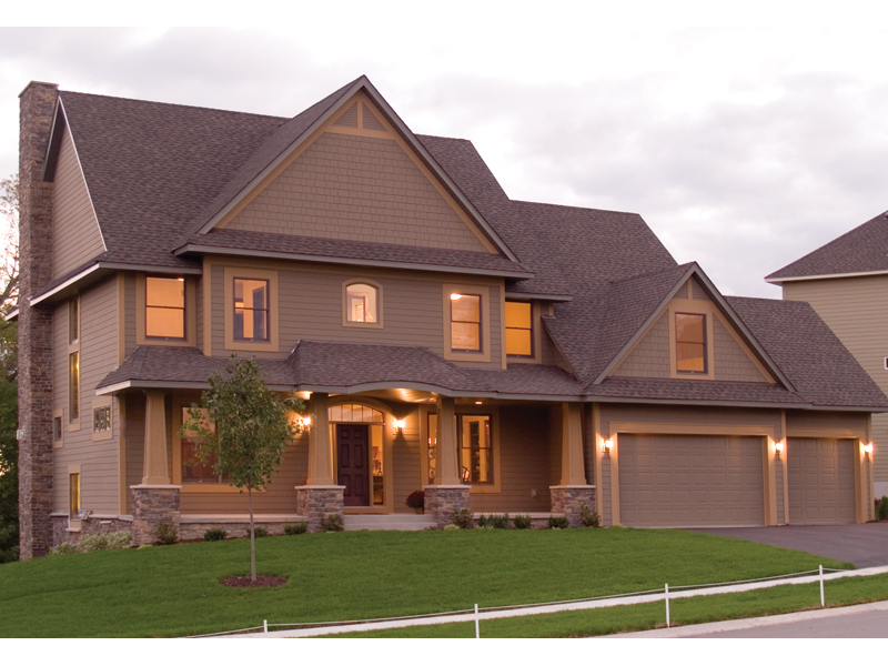 Rustic, Yet Luxurious Craftsman Two-Story Home