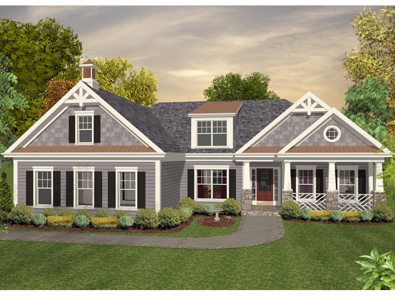 Kendrick Mill Craftsman Home Plan 013D-0180 | House Plans ... on