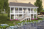 Traditional House Plan Rear Photo 01 - Eunice Farm Country Home 013D-0199 | House Plans and More