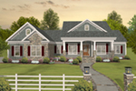 Front of Home - April Acres Ranch Home  013D-0200 | House Plans and More