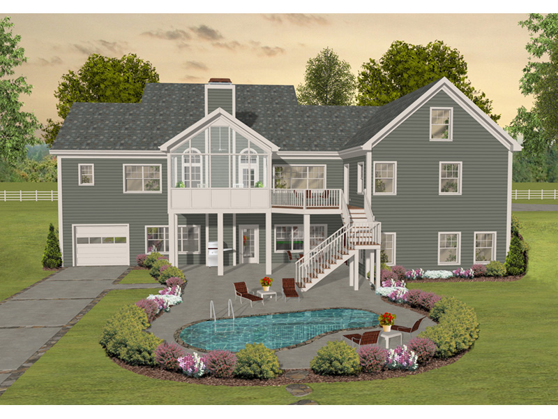 Rear Photo 01 - April Acres Ranch Home  013D-0200 | House Plans and More
