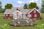 Ranch House Plan Rear Photo 01 - Cricket Creek Country Home 013D-0201 | House Plans and More