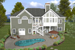 Ranch House Plan Rear Photo 01 - Dewberry Falls Ranch Home 013D-0202 | House Plans and More