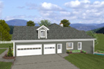 Ranch House Plan Side View Photo 01 - Dewberry Falls Ranch Home 013D-0202 | House Plans and More
