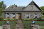 Arts & Crafts House Plan Front of House 013D-0203