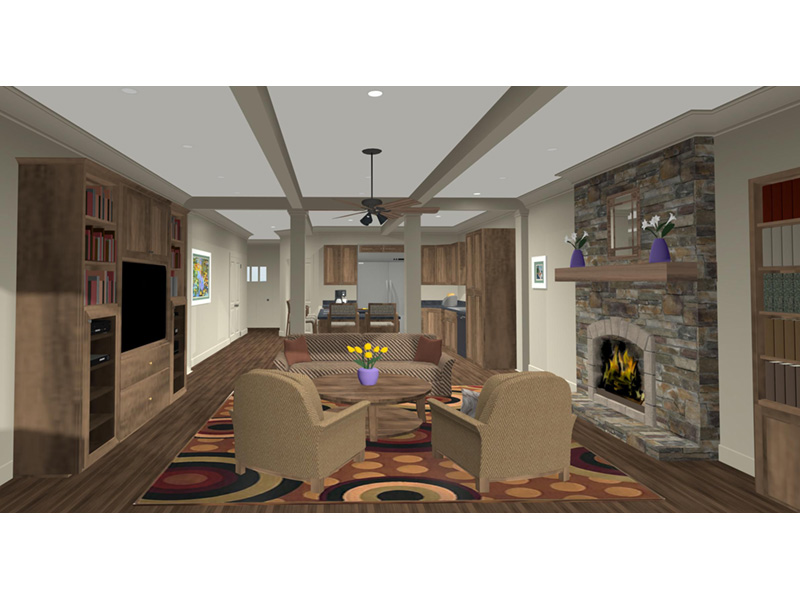 Arts & Crafts House Plan Great Room Photo 01 -  013D-0204 | House Plans and More