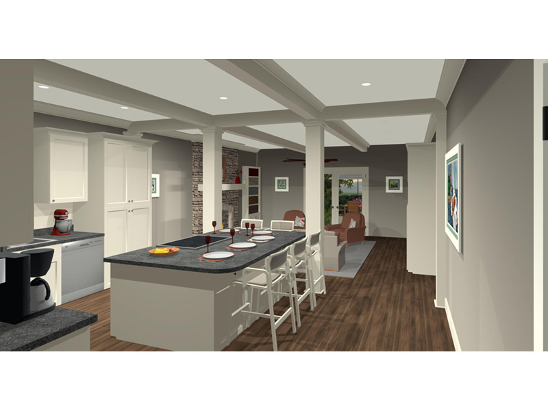 Arts & Crafts House Plan Great Room Photo 02 -  013D-0204 | House Plans and More