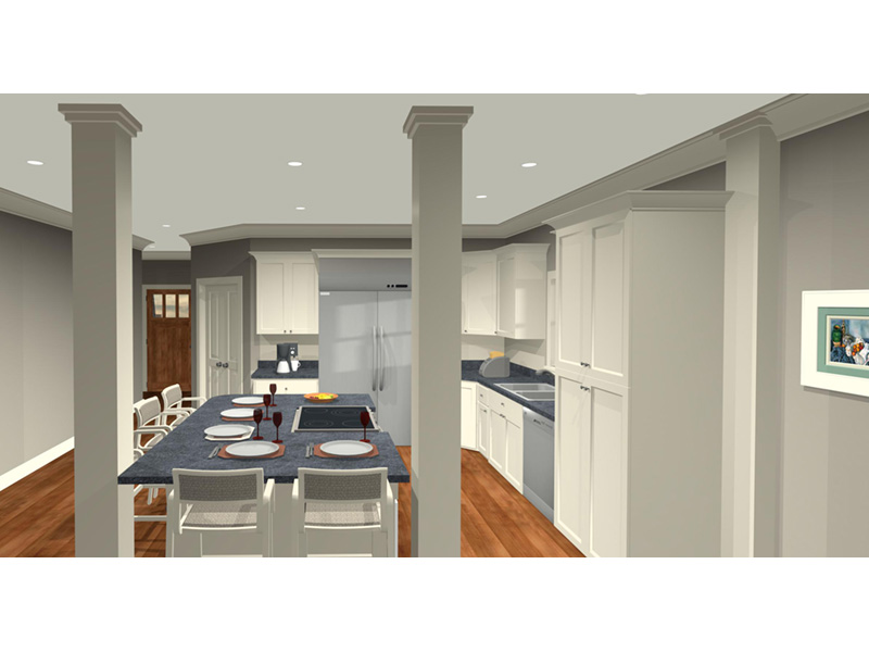 Arts & Crafts House Plan Kitchen Photo 02 -  013D-0204 | House Plans and More