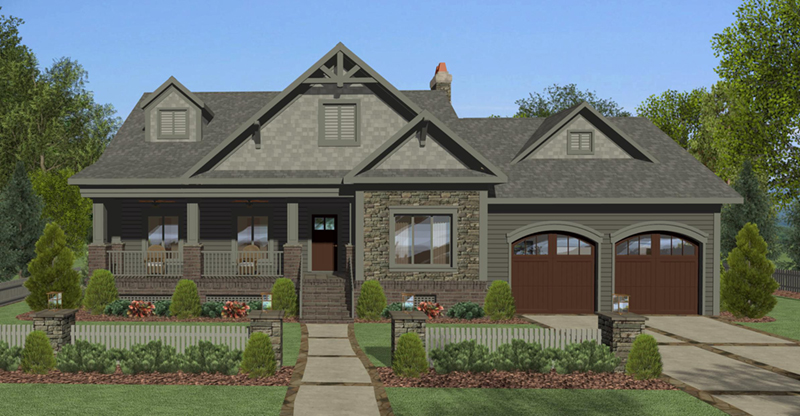 Country House Plan Front of Home - Whitfield Lane Ranch Home 013D-0205 | House Plans and More