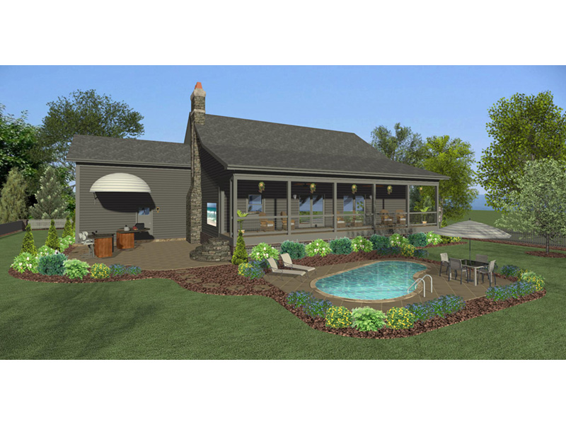 Country House Plan Rear Photo 01 - Whitfield Lane Ranch Home 013D-0205 | House Plans and More
