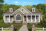 Shingle House Plan Front of House 013D-0206