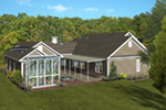 Arts & Crafts House Plan Side View Photo 01 - Dansby Country Ranch Home 013D-0206   House Plans and More