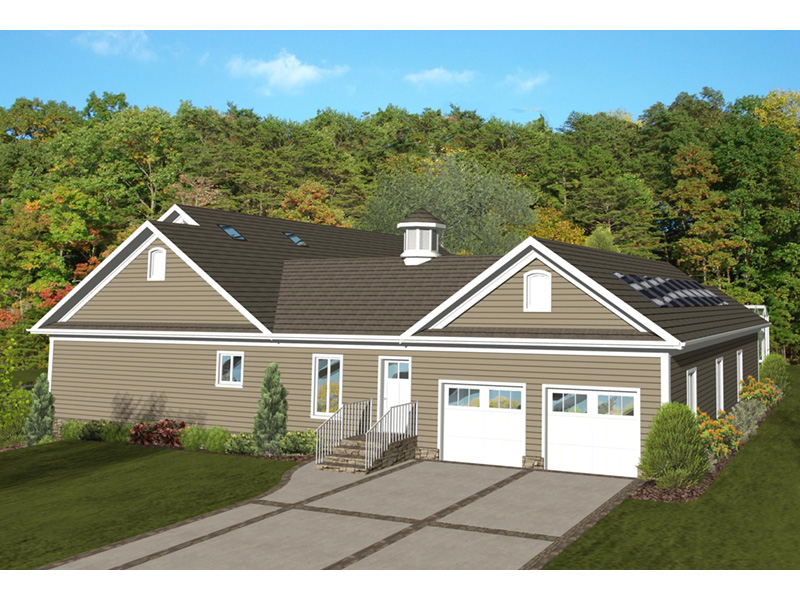Arts & Crafts House Plan Side View Photo 02 - Dansby Country Ranch Home 013D-0206   House Plans and More