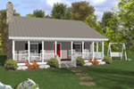 Southern House Plan Front of House 013D-0208