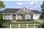 Arts & Crafts House Plan Front of House 013D-0209