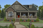 Craftsman House Plan Front of Home -  013D-0210 | House Plans and More