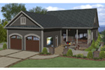 Craftsman House Plan Rear Photo 01 -  013D-0210 | House Plans and More
