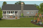 Craftsman House Plan Rear Photo 01 -  013D-0212 | House Plans and More