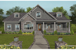Ranch House Plan Front of House 013D-0214