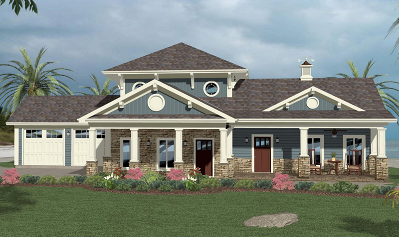Cape Cod & New England House Plan Front of Home -  013D-0215 | House Plans and More