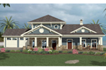 Craftsman House Plan Front of House 013D-0215
